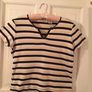 Vintage 1990s Crossroads Striped Shirt Size Small